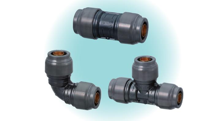 50 圧力損失を大幅に削減した、配管継手を開発