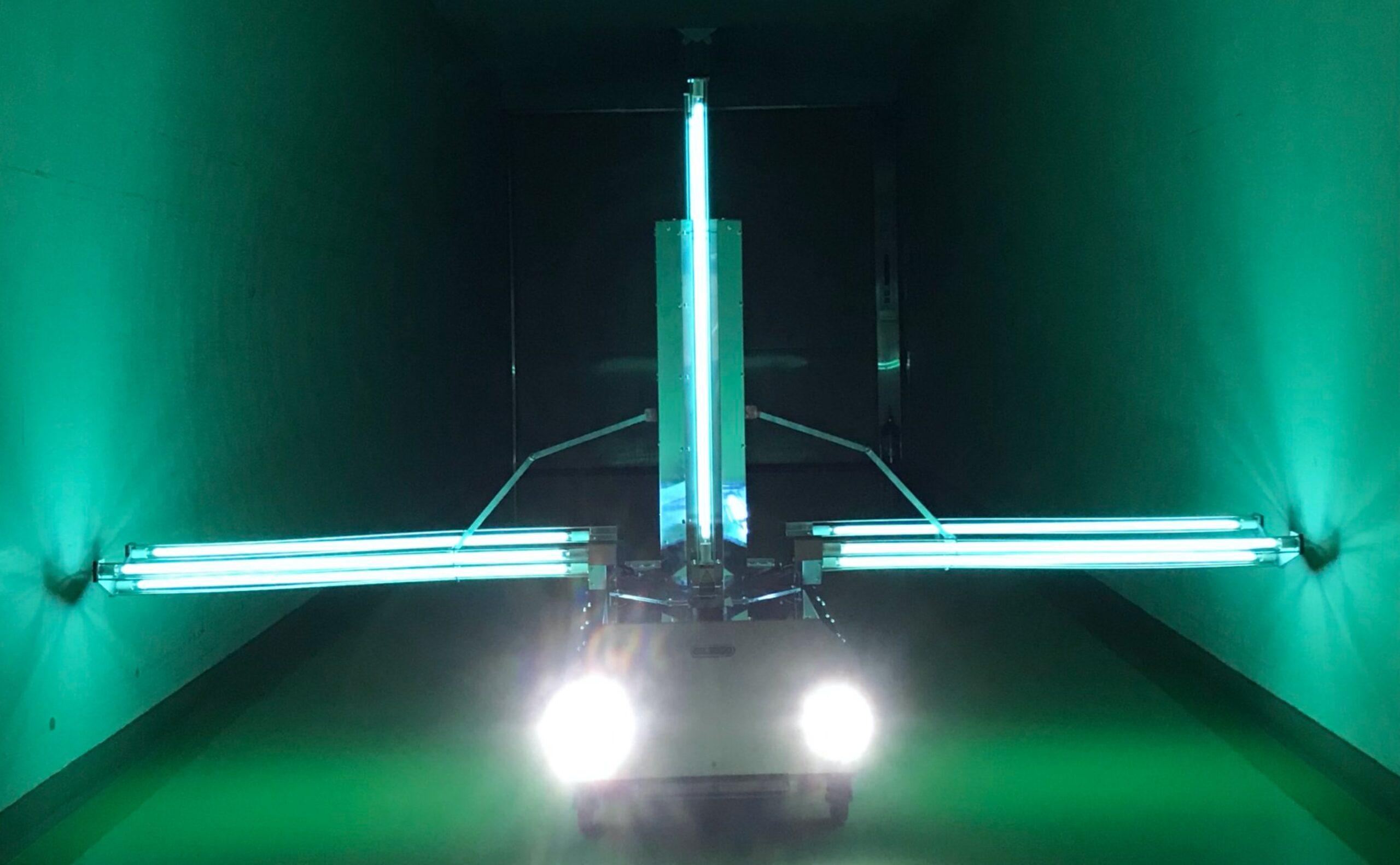 64 COVID-19を除去する紫外線照射ロボット